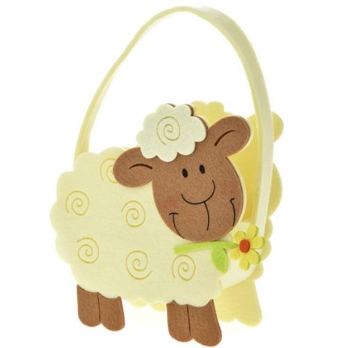 Τσόχινο καλάθι πρόβατο 20x12x19cm