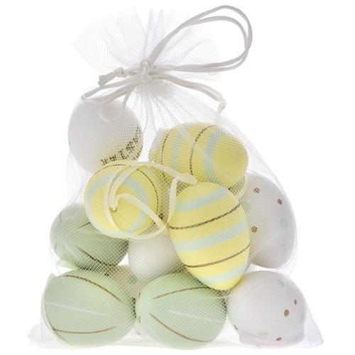 Αυγά πλαστικά  3x4cm-Συσκ: 12τεμ