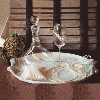 Σετ γάμου διακοσμημένο με μεταξωτά λουλούδια