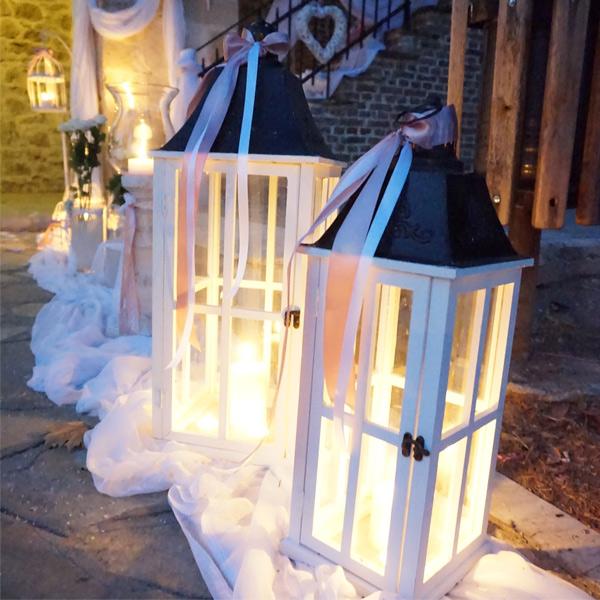 Ρομαντικός γάμος σε λευκές αποχρώσεις