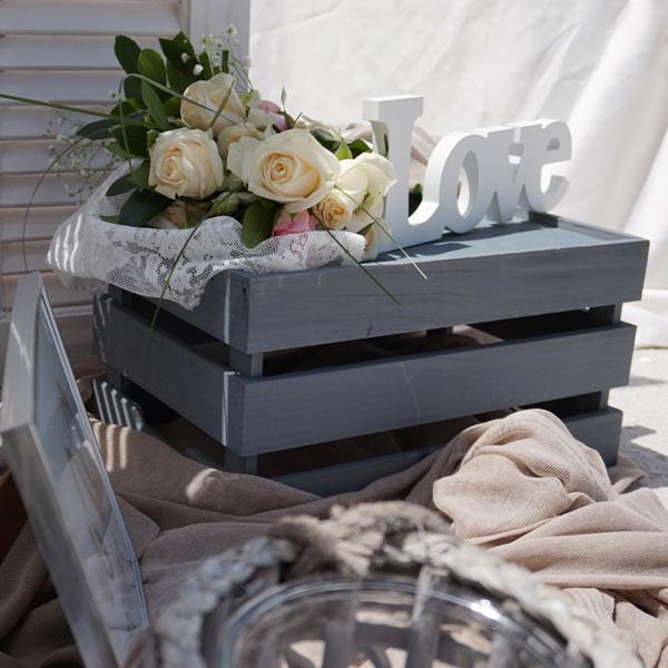 Ρομαντική γάμο βάπτιση με φυσικό λουλούδι