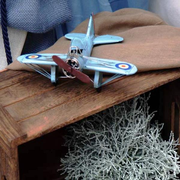 Στολισμός βάπτισης αεροπλάνο vintage
