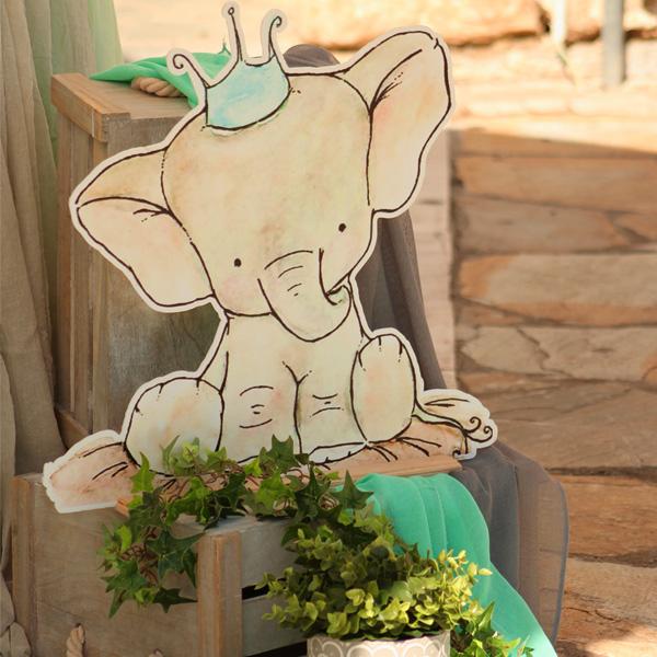 Διακόσμηση βάπτισης ελεφαντάκι