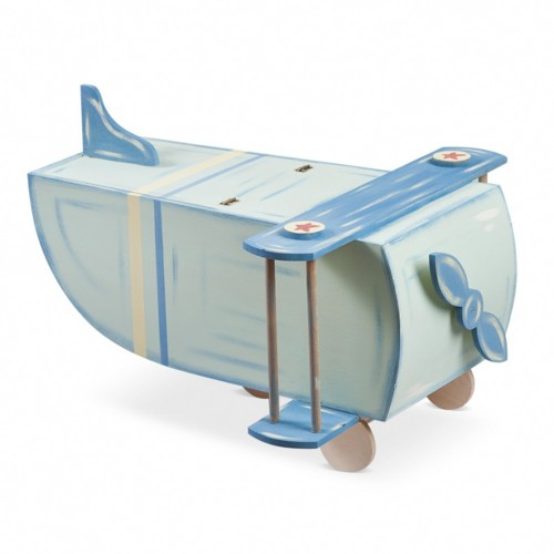 Ξύλινο κουτί βάπτισης αεροπλάνο 62x49,5x40cm