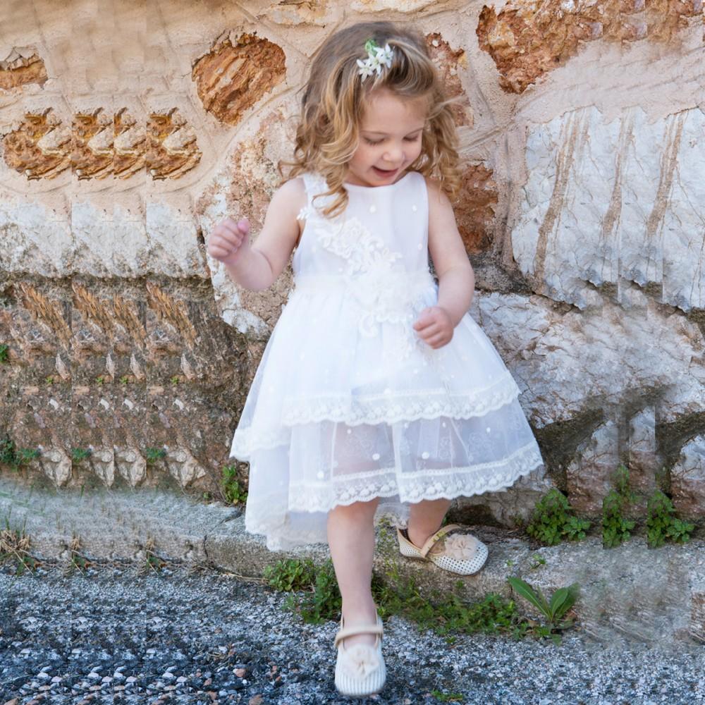 0f3b0d42db5 Φόρεμα βάπτισης τούλι με δαντέλα Μ. Τσέλιος