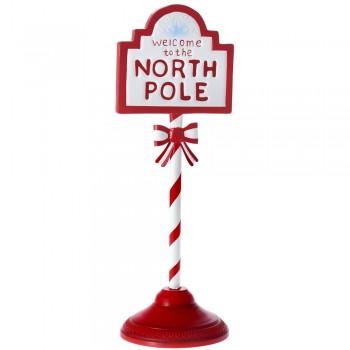 Πινακίδα μεταλλική North Pole 17x16x46cm