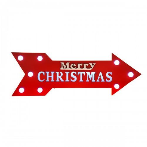 Χριστουγεννιάτικη ταμπέλα βέλος merry Christmas