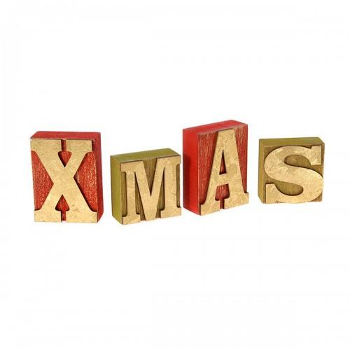 Χριστουγεννιάτικο ξύλινο xmas 24x8x3 cm