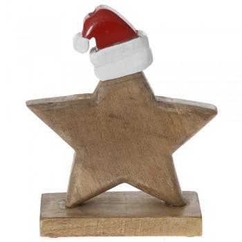 Ξύλινο αστέρι με σκούφο 15x6x17cm