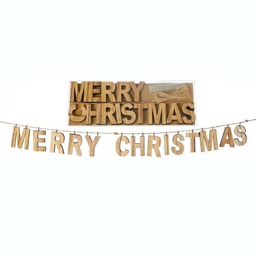 Γράμματα ξύλινα Merry Christmas