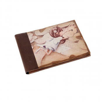Ευχολόγιο ξύλινο με κοριτσάκι ξαπλωμένο