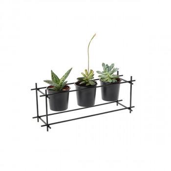 Βάση για φυτό μεταλλική 3 θέσεων 43x14x16cm