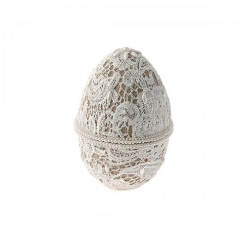 Αυγό κουτί με δαντέλα κρεμ
